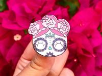 Pink cute sugar skull