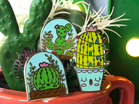 I love cactus plants! Decided to make them into lapel pins.