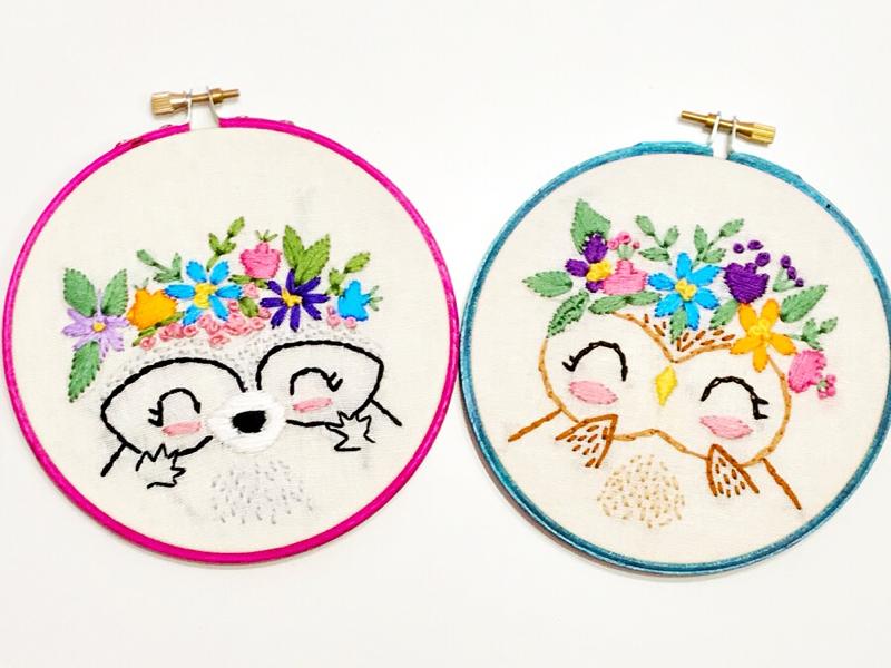 Kawaii Animals Embroidery By Claudia Ramos Dribbble Dribbble