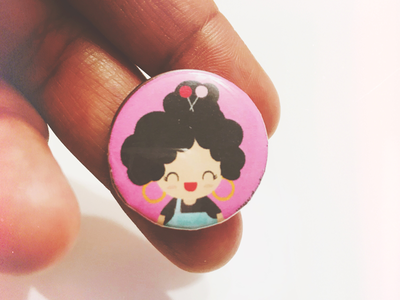 Testing out my new button maker machine! creative drawings illustrations buttons