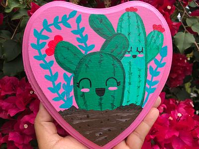 Love my cactus! garden plants lady plant fun kawaii cute acrylic cactus