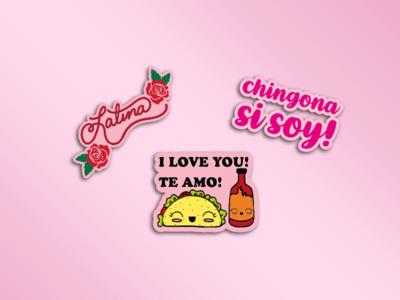 Latina inspired stickers ❤️