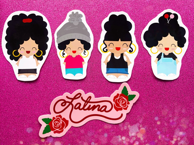 L.A. Latina Girls Stickers