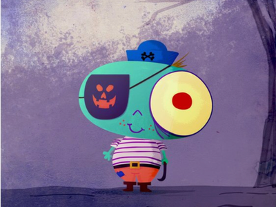 Illustrate this spook little pirate guy!
