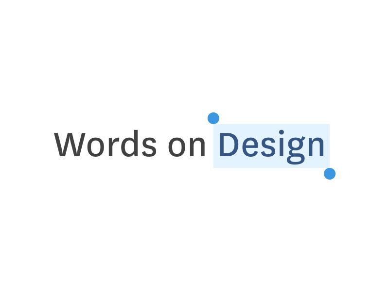 Words on Design branding web design words on design logo