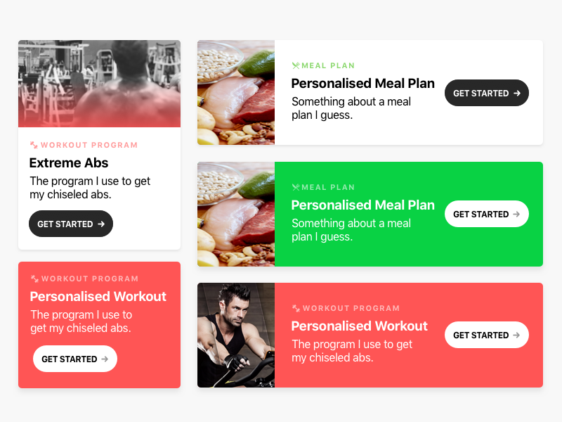 Fitness UI exploration fitness responsive desktop mobile sketch ui design web card ui