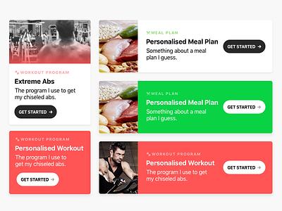 Fitness UI exploration fitness responsive desktop mobile sketch ui design web card ui
