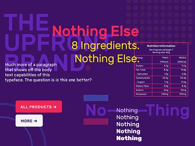 Nothing. web exploration type comic rubik typography logo branding ui