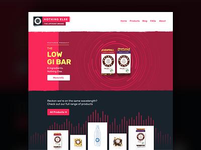 Nothing Else Website animation origami studio origami e-commerce web type rubik typography health food web design ui