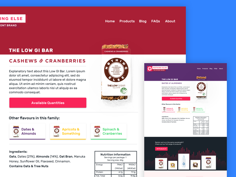 Product Pages product e-commerce web type rubik typography health food web design ui