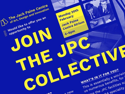 JPC Collective poster typography invite high school jpc collective print design graphic design