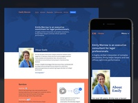 Emily Morrow site nathan walker responsive animation web development consultant law frontend web design ui