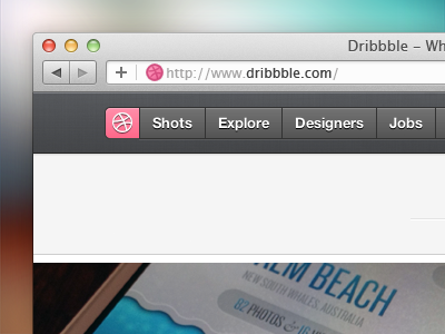 Dribbble extension