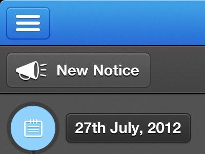 Retina iPad Work ui retina ipad peronsal notices timeline