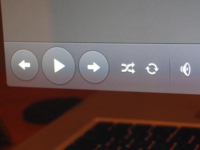 Music Controls music app ui ipad ios controls shuffle loop icons volume apple play last next