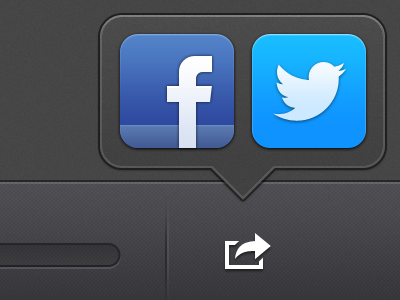 Share Music Tooltip ui icons tooltip sharing app ipad facebook twitter