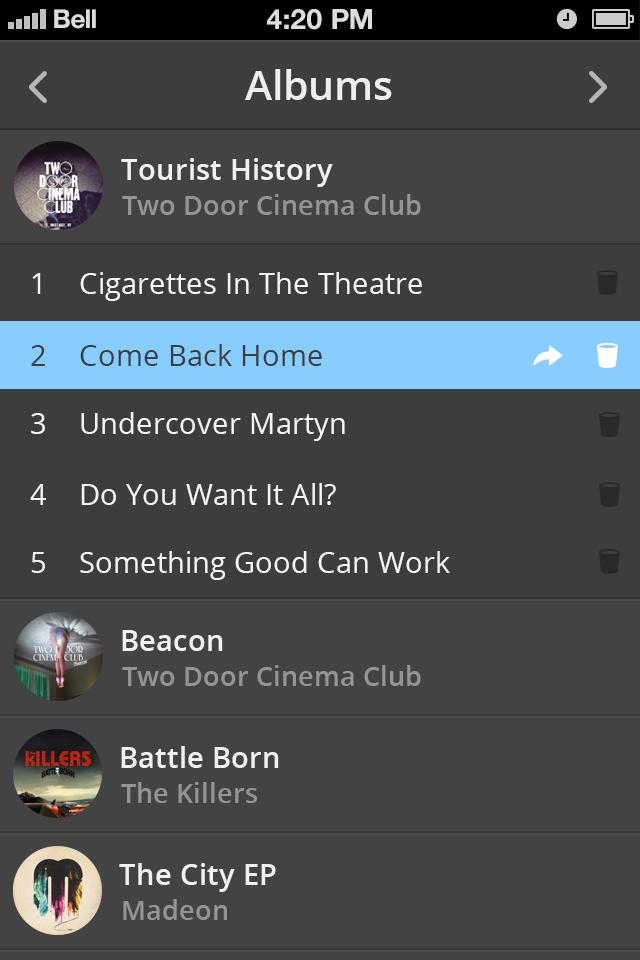Dark music iphone 4s app