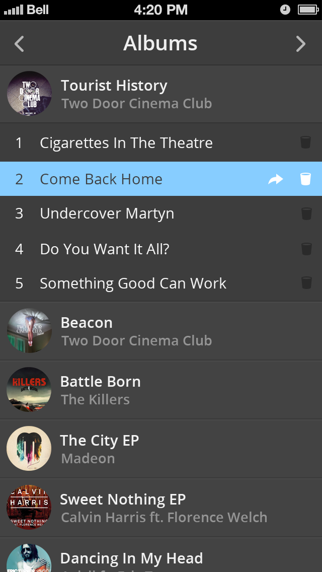 Dark music iphone 5 app
