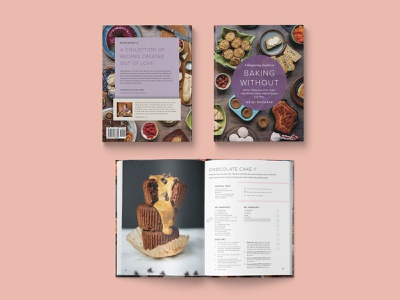Baking Without Cookbook Design, Art Direction and Food Styling typography layout design print design styling cookbook design book design art direction food styling baking glutenfree foodanddrink food cookbook book