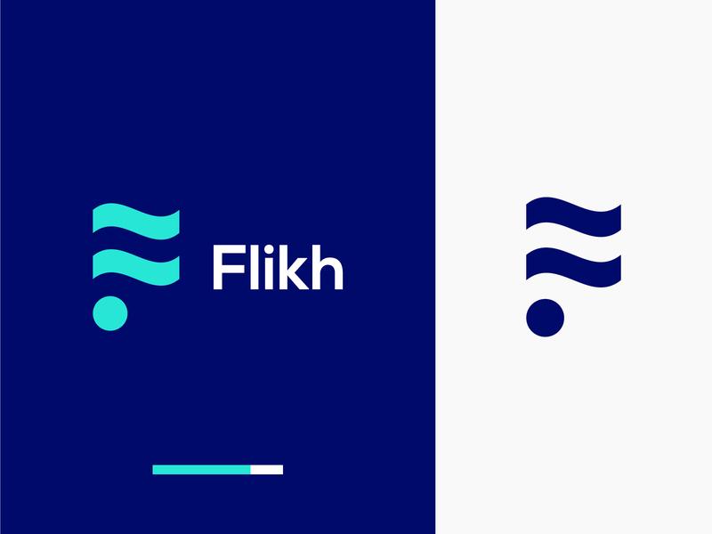 Flikh Logo Design minimal logo design minimalist line logo minimal logo colorful logo business logo modern logo monogram logo minimalist logo logo design logo graphic design flat logo brand identity
