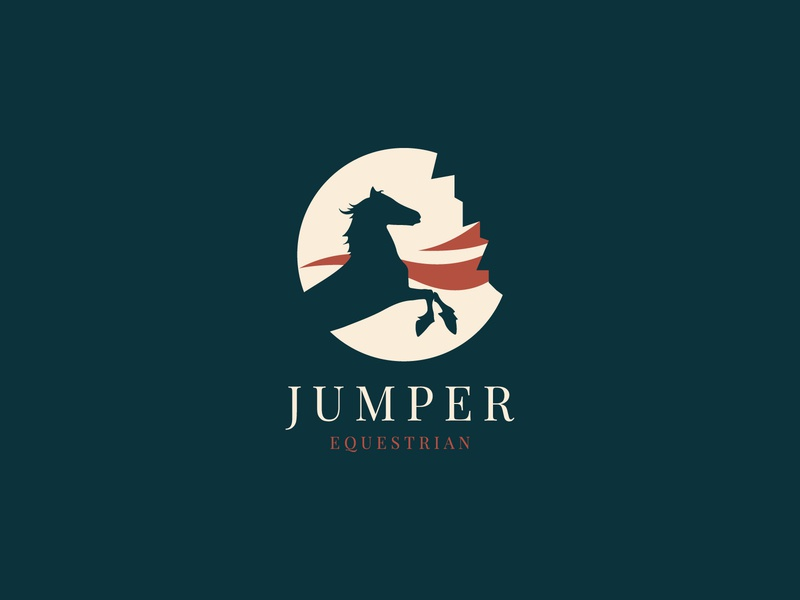 Jumper Equestrian Logo Concept line logo business logo modern logo monogram logo minimalist logo logo design logo graphic design flat logo brand identity