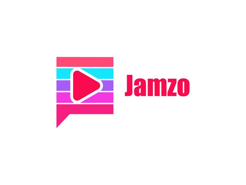 Jamzo Video Sharing App Icon Logo Concept colorful logo business logo modern logo monogram logo minimalist logo logo design logo graphic design flat logo brand identity
