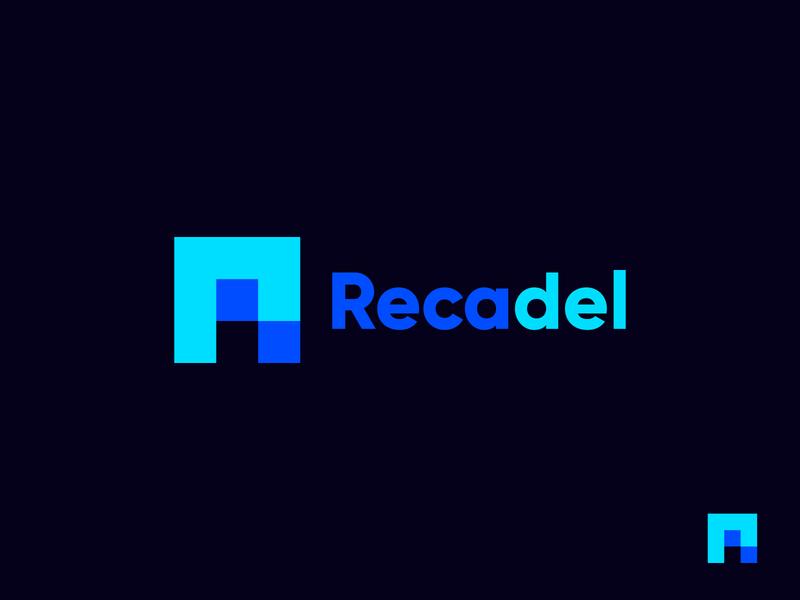 Recadel Brand Logo minimalism minimal miniamllogo colorful logo business logo modern logo monogram logo minimalist logo logo design logo graphic design flat logo brand identity