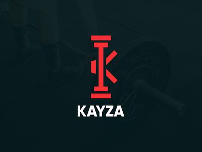 KAYZA Gym Logo graphic health logo health app health fitness logo fitness app fitness gym logo gym app gym colorful logo business logo monogram logo modern logo minimalist logo logo design flat logo brand identity logo graphic design