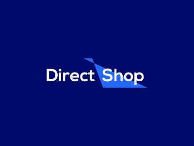 Direct Shop | Ecommerce Shop | Startup Logo | Ecommerce brandmark logomark symbol logodesign brand logotype minimal minimal logo identity ecommerce app ecommerce shop shopify store shop ecommerce branding graphic design brand identity logo design logo