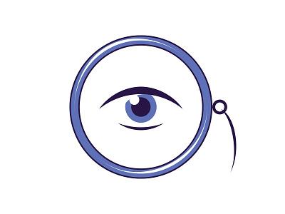 Monocle view search sight eye logo monocle