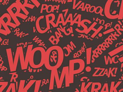 Kapow! Posters posters comic pop pattern brand kitsch