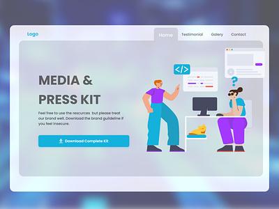 Daily UI 051  (Press Page) dailyui branding web modern website dailyuichallenge mobile app design design ux ui