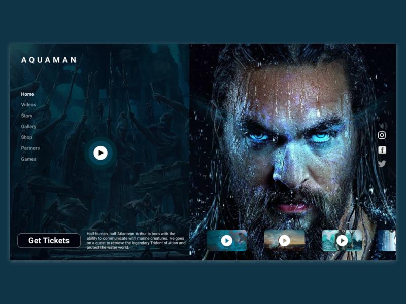 Aquaman css html webdesigner webdeveloper website mockup mobile ui interaction user interface design wireframe uxdesign uidesign inspiration animation uiux graphicdesign userinterface design ux ui