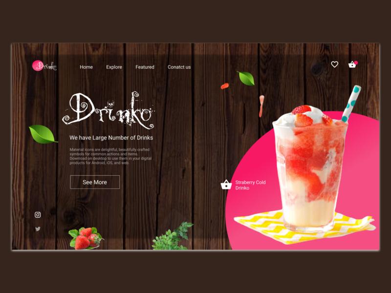 Drinko_here uidesigner webdesigner webdeveloper website mockup mobile ui interaction user interface design wireframe uxdesign userinterface branding uidesign inspiration animation uiux graphicdesign design ux ui