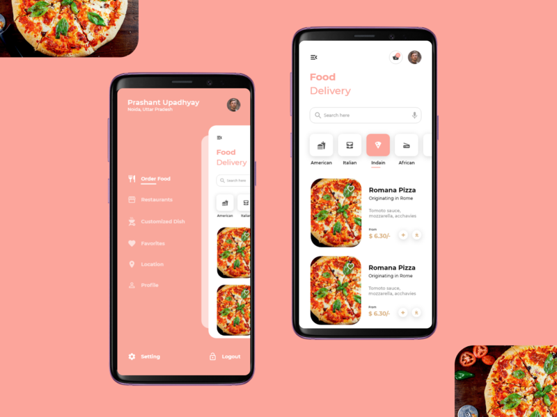 Food Delivery designs color interactive design website mockups uxdesigner uidesigner application user interface design interaction uxdesign userinterface uidesign inspiration animation uiux graphicdesign design ux ui