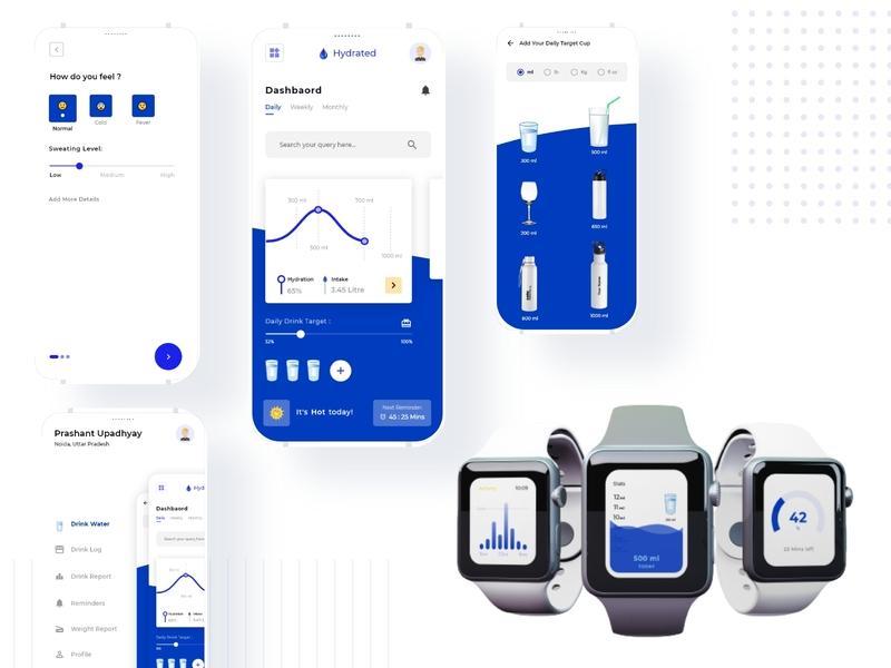 Hydro color ui design smartwatch website application mockups uxdesigner uidesigner interaction wireframe uxdesign userinterface uidesign inspiration animation uiux graphicdesign design ux ui
