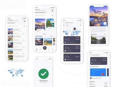 Travel App mockups ui design color user interface design theme mobile application uxdesigner uidesigner interaction uxdesign userinterface uidesign inspiration animation uiux graphicdesign design ux ui
