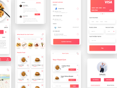 Food Delivery App UI food app uiux ui booking online food delivery food design app typography minimal ios dailyui android app
