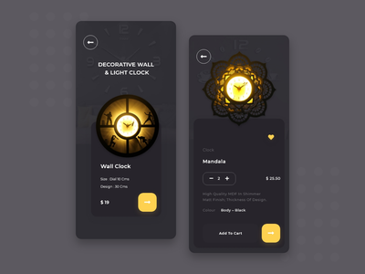 Wall Clock App Ui light clock wall art wall clock app clock wall clock uiux ui typography minimal ios design dailyui app android app