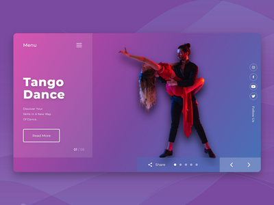 Dance academy web ui 2020 colorful gradient latest graphics designs dance ux branding illustration uiux ui typography minimal ios design dailyui