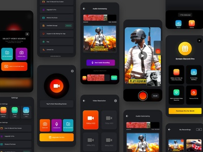 Screen Recorder For Live Streaming 2020 ios uiux ui game android app live stream video editor photos editing recording screen call of duty pubg