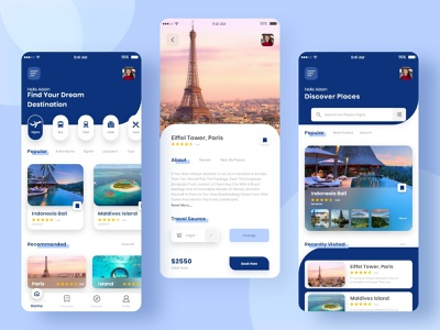 Travel App Concept UI travel app travel app design ios android app typography minimal design dailyui uiux ui