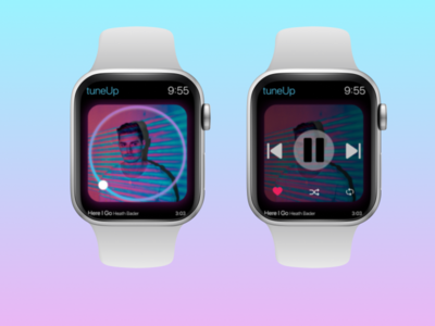 Music player for Apple watch design ui watch 009 dailyui