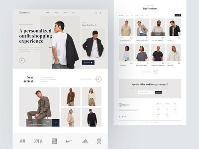 Clambhen - Marketplace Landing Page fashion websitedesign webdesign landing page marketplace uiux ui design