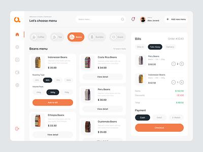 Kopiku - Coffee Shop Dashboard Management market coffeeshop dashboarddesign dasboard uiux ui