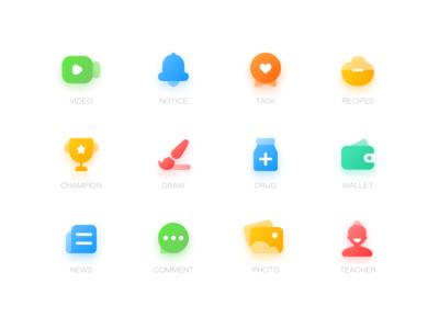 Preschool Functional icons