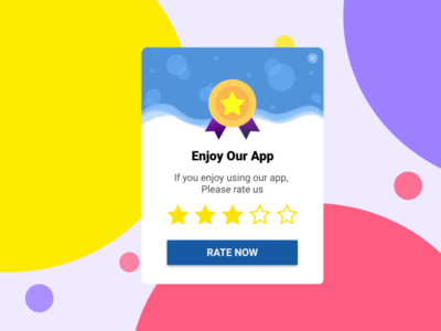 Rate us Pop Up design dailyui adobexd ui