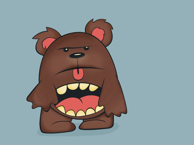 hungry and angry bear angry hungry bear draw ilustración illustration