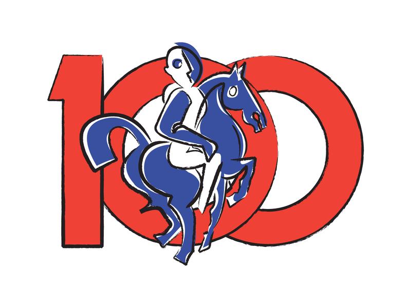 Blue rider art abstract branding logo draw ilustración illustration