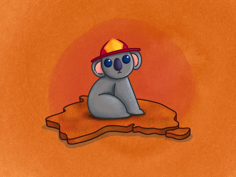 New South Wales Rural Fire Service (NSW RFS)   Australia fire koala australia animals blog mx méxico design ilustración draw illustration